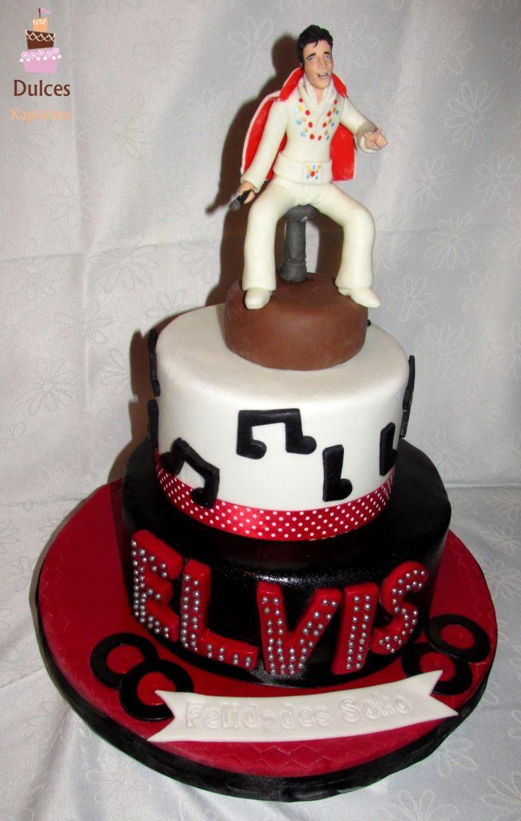 Torta Elvis #TortaElvis #TortaElvisPresley #TortasDecoradas #DulcesKaprichos