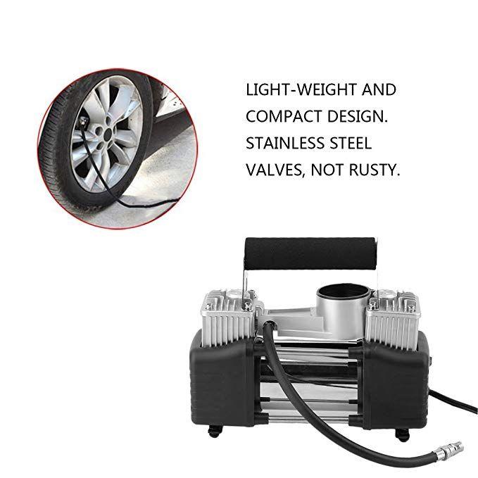 Yellow Car Tire Inflator Air Pump 12v Portable Air Compressor