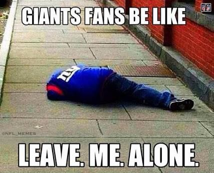 The usual from Giants fans
