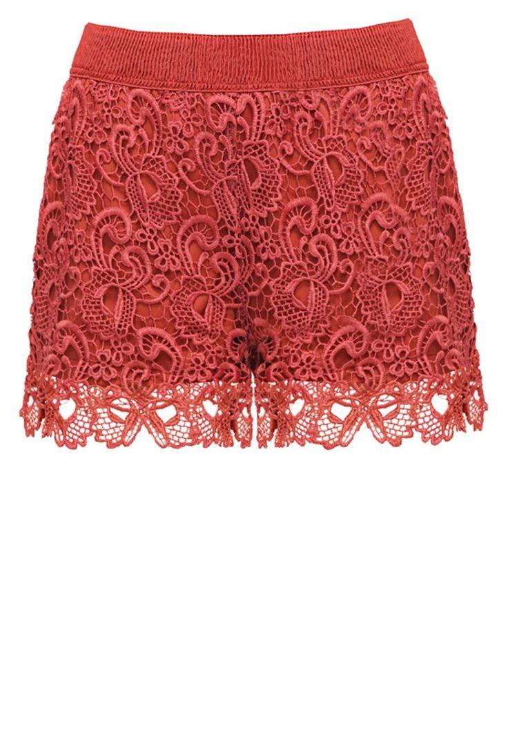 ONLY ONLSASSY Szorty koronkowe marsala lace shorts