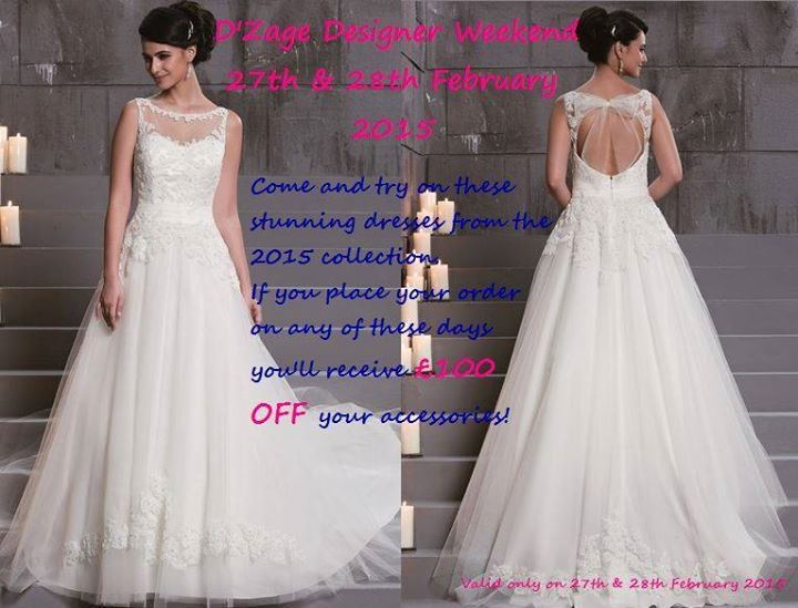 Come and see the new 2015 Collection of D'Zage Bridal Gowns this Friday 27 & Saturday 28 February in store Even if your wedding is in June, July or August this year, we can still get your dream dress by D'Zage in store for only £42 extra We are in Stevenage Town Centre, Hertfordshire #veromia #weddingdresses #dreamdress #weddings #bridal #stalbans #Hitchin #royston #harpenden #stevenage #Luton #Letchworth #welwyn #ware #hertford #hertshour @EssexBridalTalk @HertsWeddingDir #bride