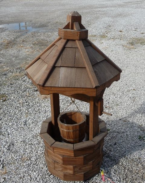 Woodcraft Patterns Amish Wishing Well Woodworking Plans Arts Amp Crafts Mission Style