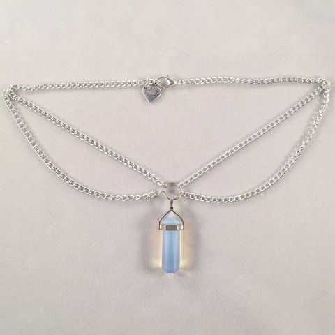 Opalite Double Chain Choker - Deer Designs  - 1