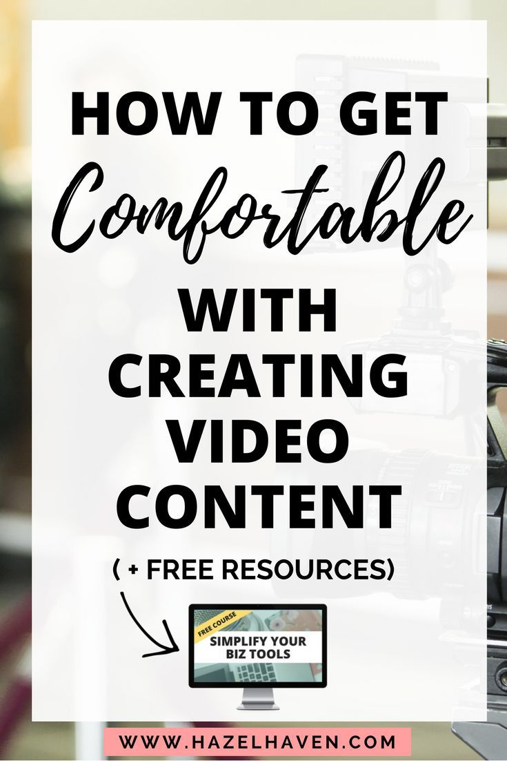 How to Get Comfortable with Creating Video Content #videomarketing #videocontent #2018goals #onlinebusiness #blogging