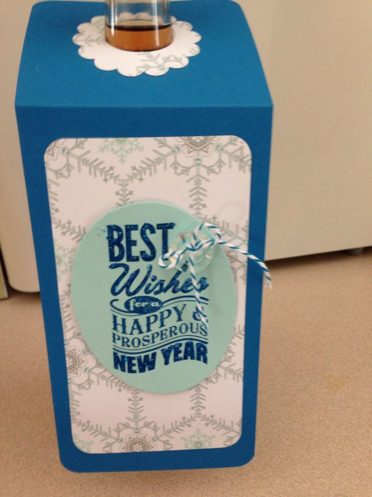 Stampin' Up! Happy New Year Wine Bottle tag