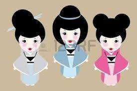 Risultati immagini per acconciature tradizionali giapponesi