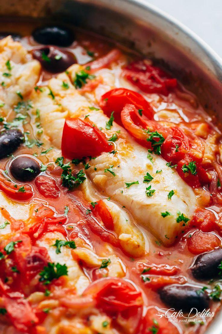 Pan Seared Cod In White Wine Tomato Basil Sauce Healthy Delicacies Recipe Fish Recipes Healthy Fish Dishes Recipes Seared Fish