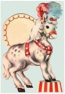 Circus horse card - this would be cute framed