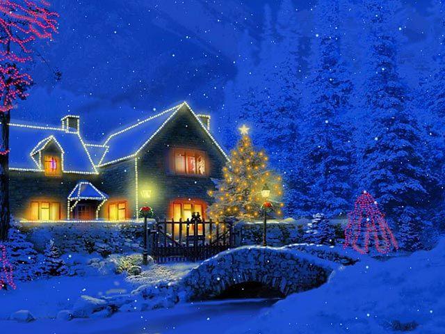 Christmas Scene Screensaver Wallpaper: 28 Best Christmas Cottage Images On Pinterest