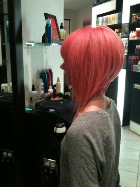 asymetrical cut... if I ever cut my hair