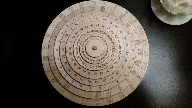 Mexican Mayan Cipher Wheel Wheels Spy Gear And Wood Working