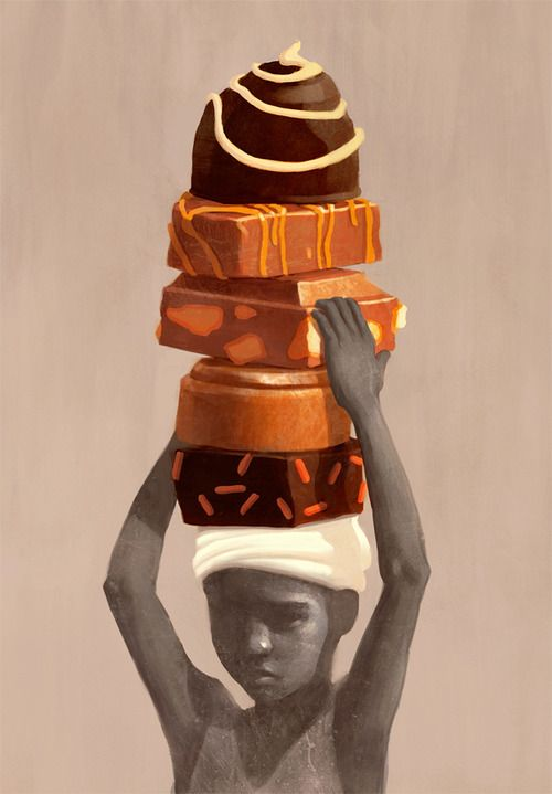 New illustration on child labor in cocoa production.