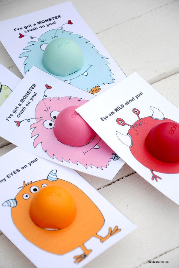 EOS Chapstick Monster Valentines (Templates and How-To) ...fun valentine for your co-workers.