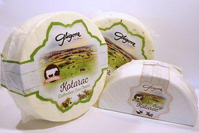 Kotarac - Queso de Croacia El queso puede ser de cabra o  vaca - pasteurizado de pasta blanda, con 30 dias de maduracion
