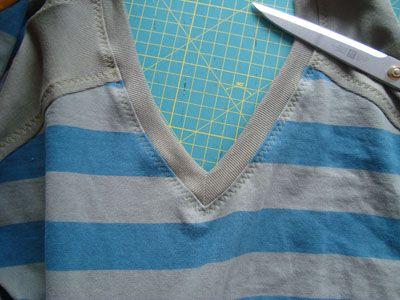 V-Ausschnitt an T-Shirts