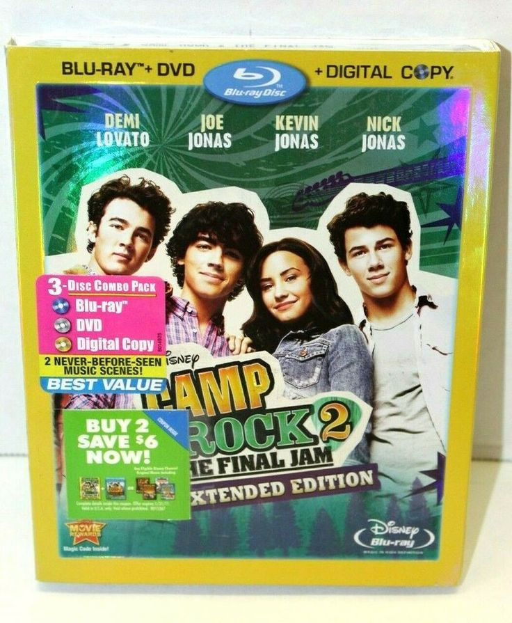 Camp Rock 2 The Final Jam Blu Ray Dvd 2010 3 Disc Set Demi Lovato Brand New Disney Blu Ray Camp Rock Blu
