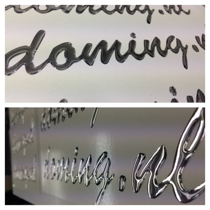 This doming effect gives lettering decals a very unique, sleek, chrome look! This is similar to the writing and emblems you see on the average vehicle.