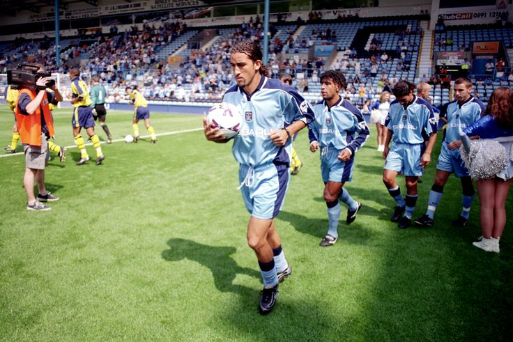 The Sky Blues run out at Highfield Road in 1999 - Picture by: Steve Mitchell/EMPICS Sport