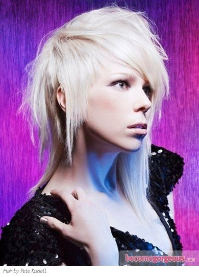 Pictures : Long Hairstyles - Funky Heavy Layered Long Hair Style