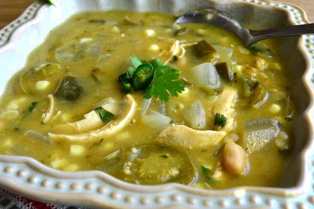 Chile Verde with Chicken, and Masa Harina Biscuits