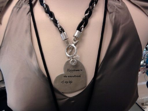 Happiness is the soundtrack of my life necklace