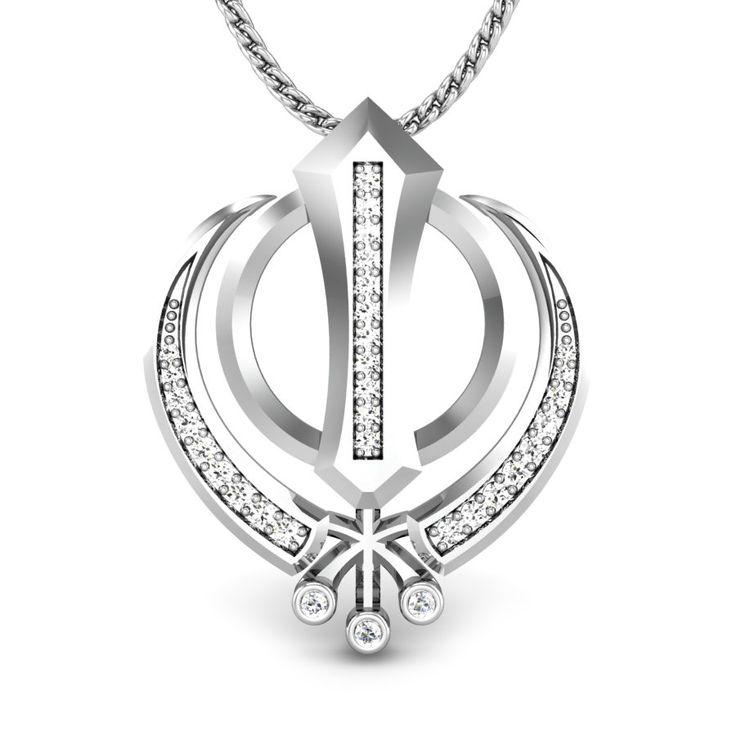 The Khanda Diamond Pendant