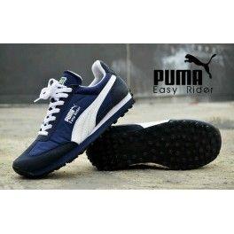 Puma Easy Rider 02 BIru Nevy Putih Harga Rp.230.000 Menerima Reseller ,Dropshiper , #SepatuPumaMurah