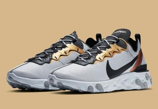 """23a41c331 Nike React Element 55 """"Gold Ranger"""" in 2019"""