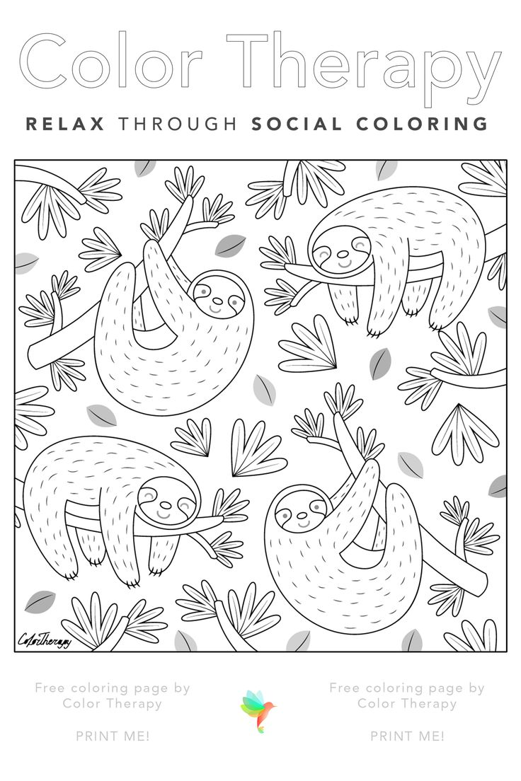 Free coloring page created by ColorTherapyApp. Print the
