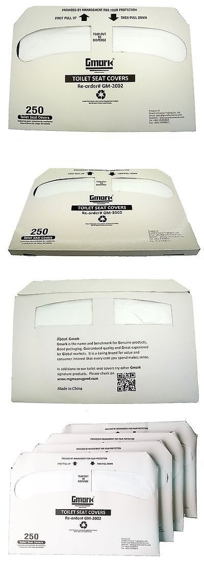 Toilet Seats 37637: Gmark Toilet Seat Covers Disposable Half-Fold 1000 Per Case (4 Packs Of 250) ... -> BUY IT NOW ONLY: $300 on eBay!