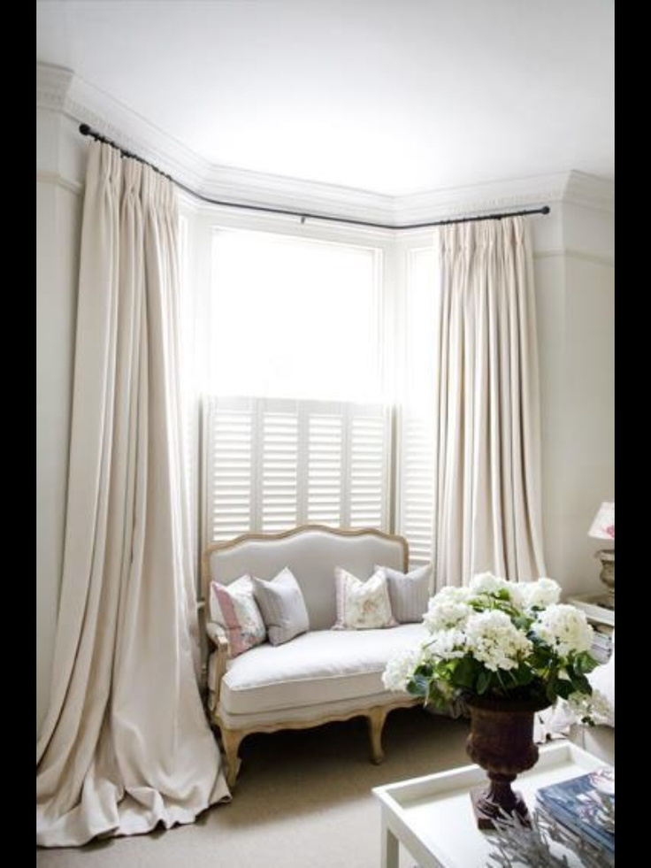 24 best bay window ideas tips images on pinterest curtains bay windows and bay window curtains. Black Bedroom Furniture Sets. Home Design Ideas