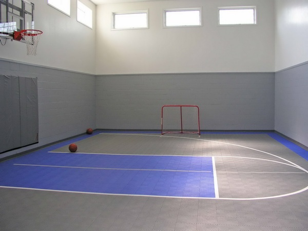 17 best ideas about indoor basketball court on pinterest for Size of half court basketball court