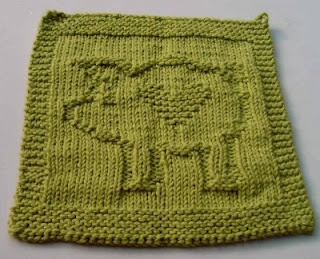 Heart Pig Crafty Ideas Dishcloth Knitting Patterns