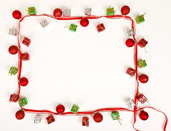 Christmas Borders And Frames Red