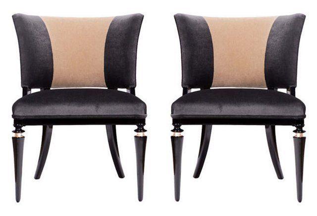 cheap mens free run French Art Deco Style Chairs  Pair