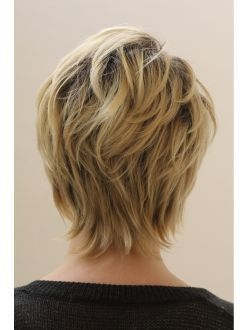 """50 Short Hair Style Ideas for Women [   """"With the proper haircut and hairstyle, thick hair is able to look lovely too. Therefore, if you are searching for cute hairstyles for long hair,"""",   """"Back view growing pixie"""",   """"Like the uneven neckline"""",   """"Love"""