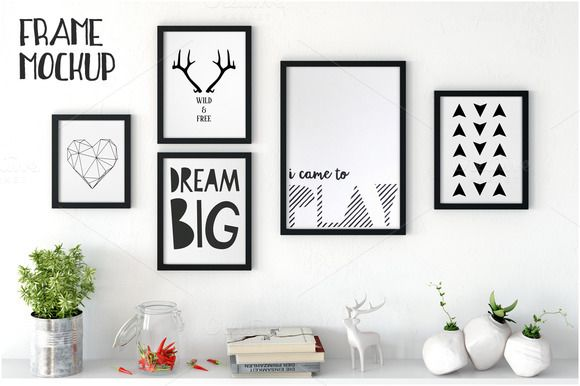 Frame Mockup in white by Yuri-U on @creativemarket