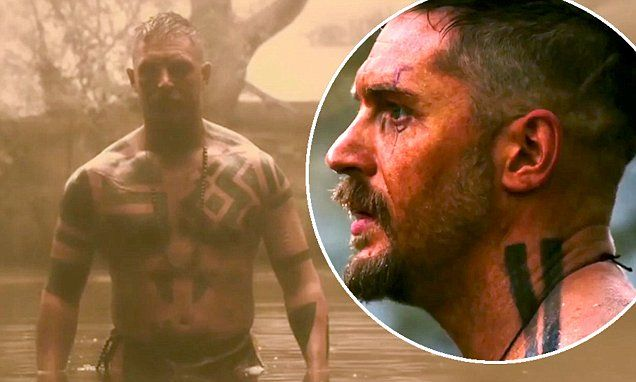 Tom Hardy shows off his tattoos and muscles in sneak peek for Taboo