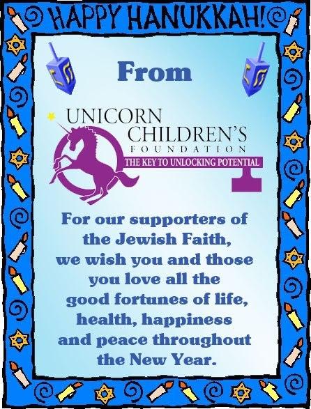 Happy hanukkah,... Unicorn Foundation