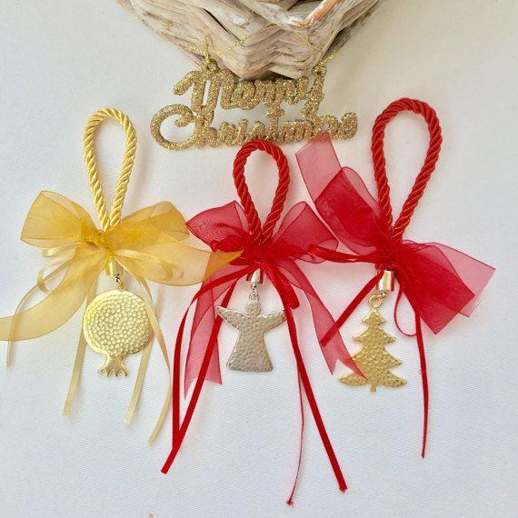 Pomegranate Christmas gift lucky charm by hippiefishbeachart