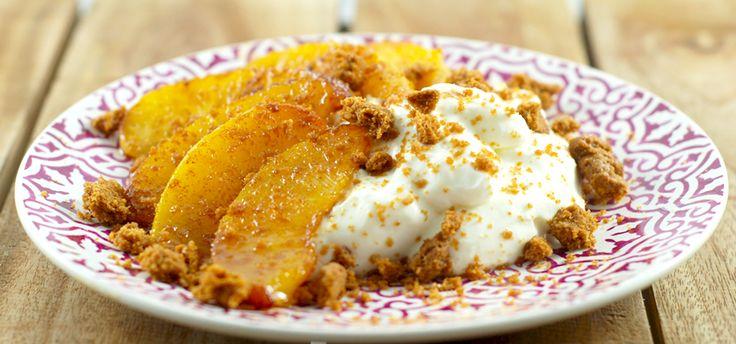 Hangop met nectarine | De keuken van Suus | Chef99.nl