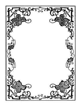 This rustic border features flowers and vines twisting together. It is a thick border, with delicate detailing. Free to download and print.