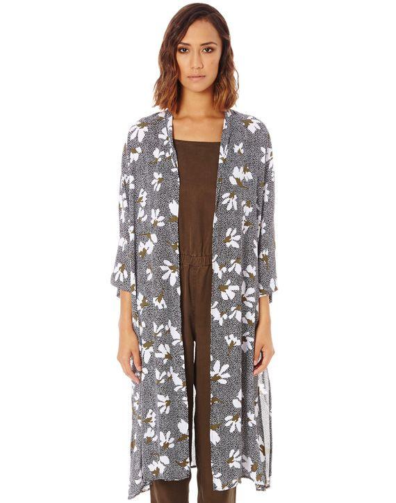 Abstract Floral Kimono
