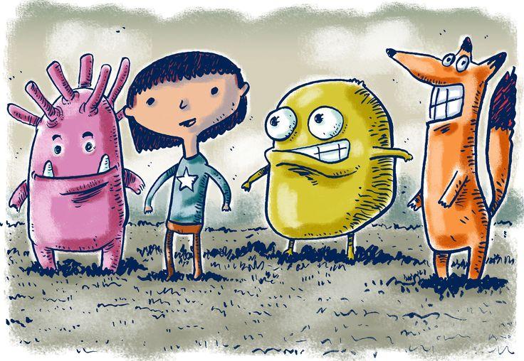 Monsters. Digital illustration.