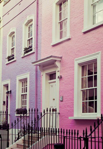 Pastel streets in Chelsea, London