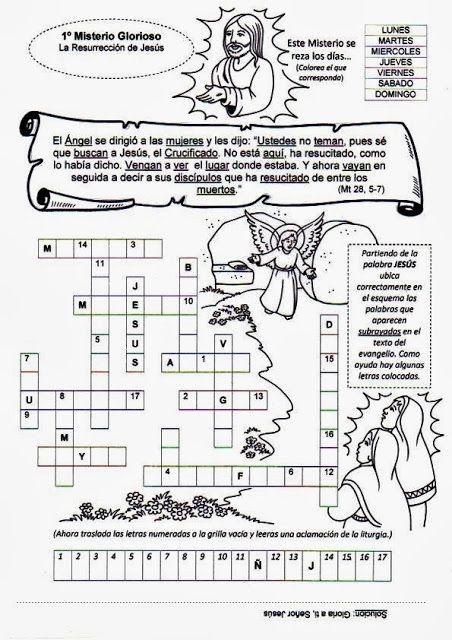 El Rincón de las Melli: El Rosario: Juegos con los Misterios Gloriosos