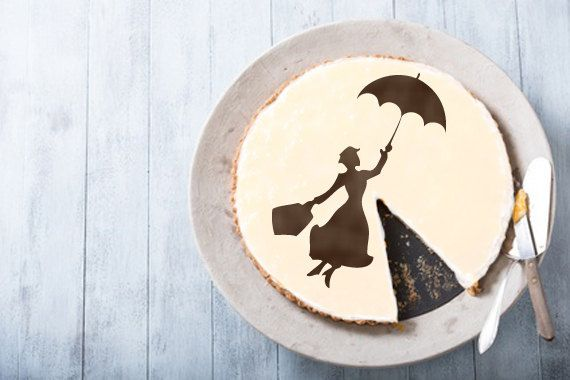 Mary Poppins Cake stencil cake- Round stencil for cake decoration. Serial number- R099. Cakes design supplies