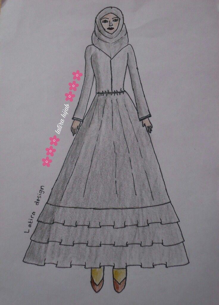 Sketch Design for Naila Dress.