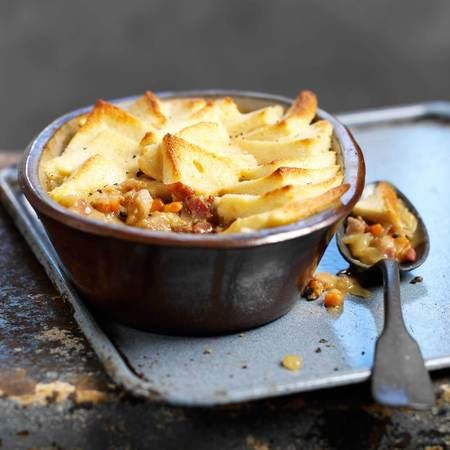 Rabbit pie with bacon and real ale.  This recipe sounds great, I love rabbit.  Definitely going to try this one.