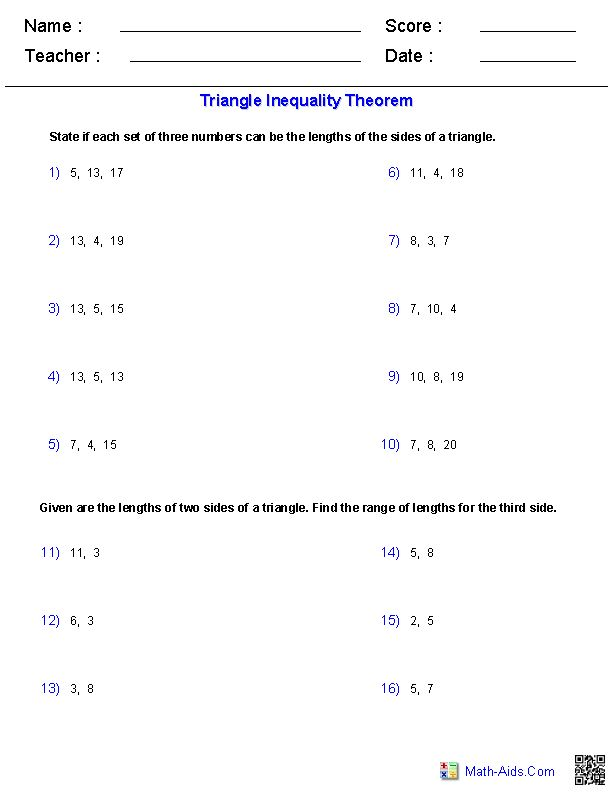 inequalities worksheet pdf with answers